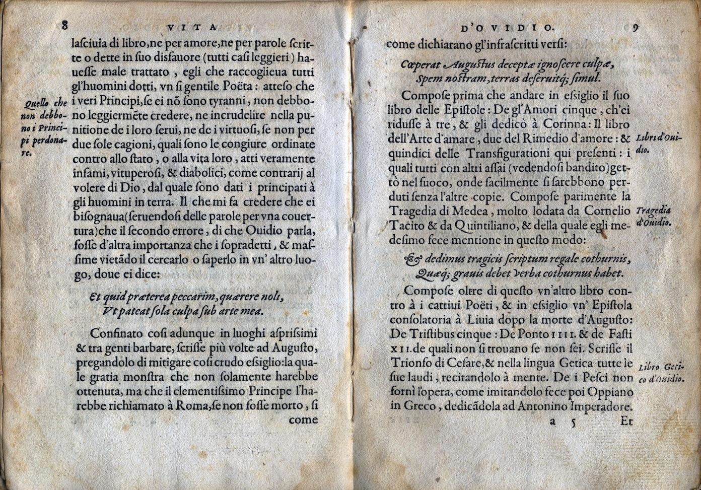 LA VITA ET METAMORFOSEO D'OVIDIO Giovanni di Tornes Lione B 1519 3 copia