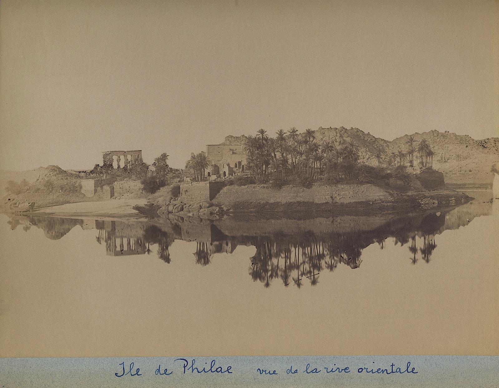 17-Beato-Ile de Philae vue de la rive orientale