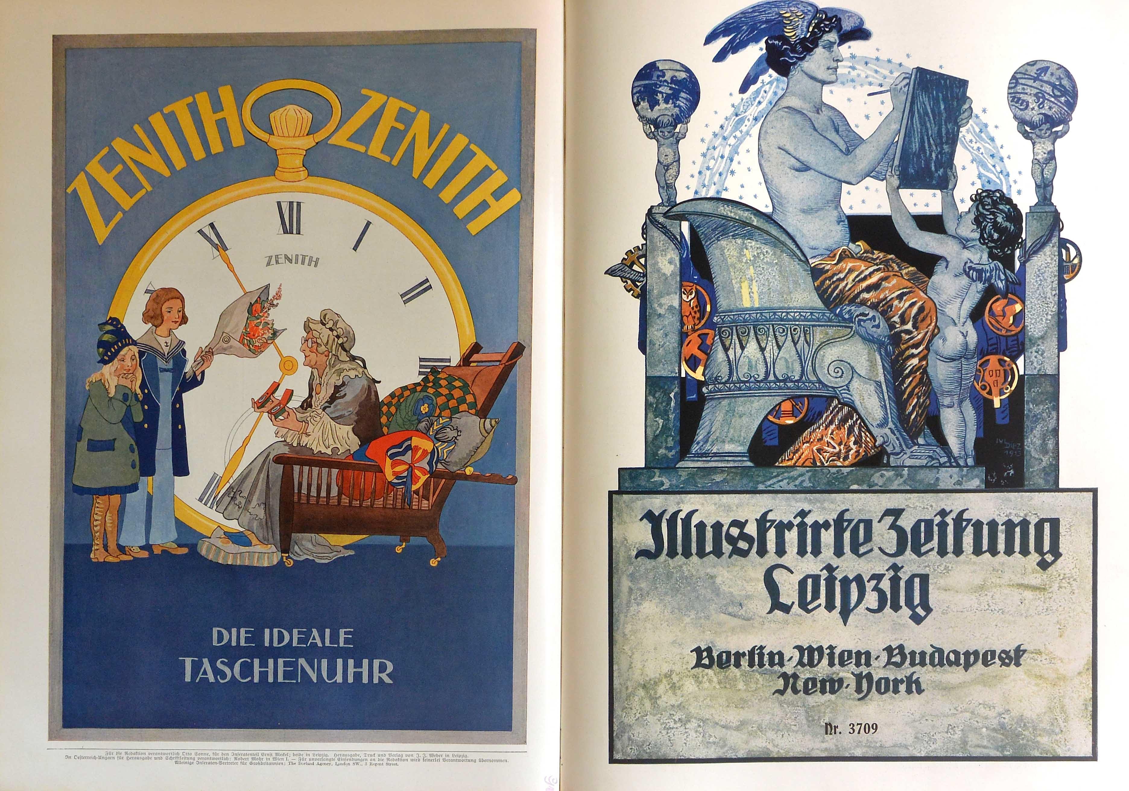 Illutrirte Zeitung Leipzig: the number 3709 cover, a balanced mix of classicism and modernism . la copertina del numero 3709 un equilibrato mix di classicità e modernismo