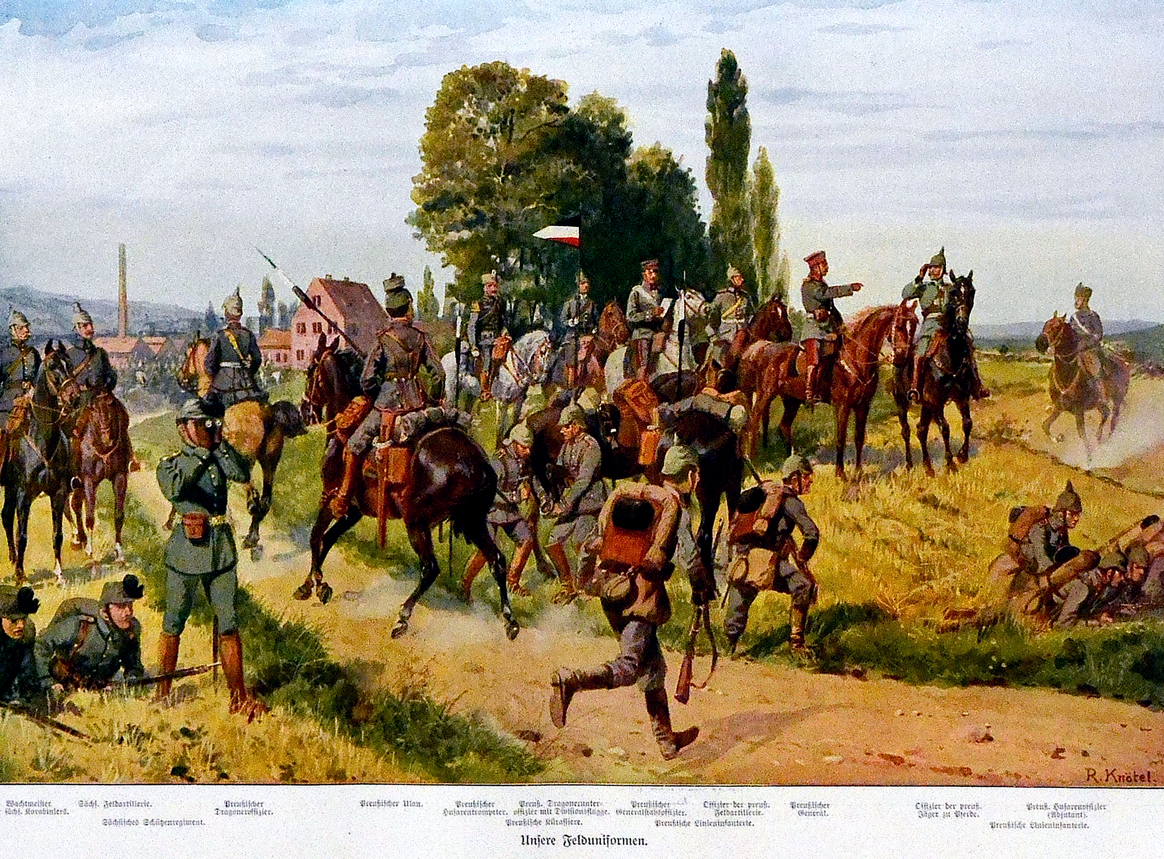 The German field uniforms -