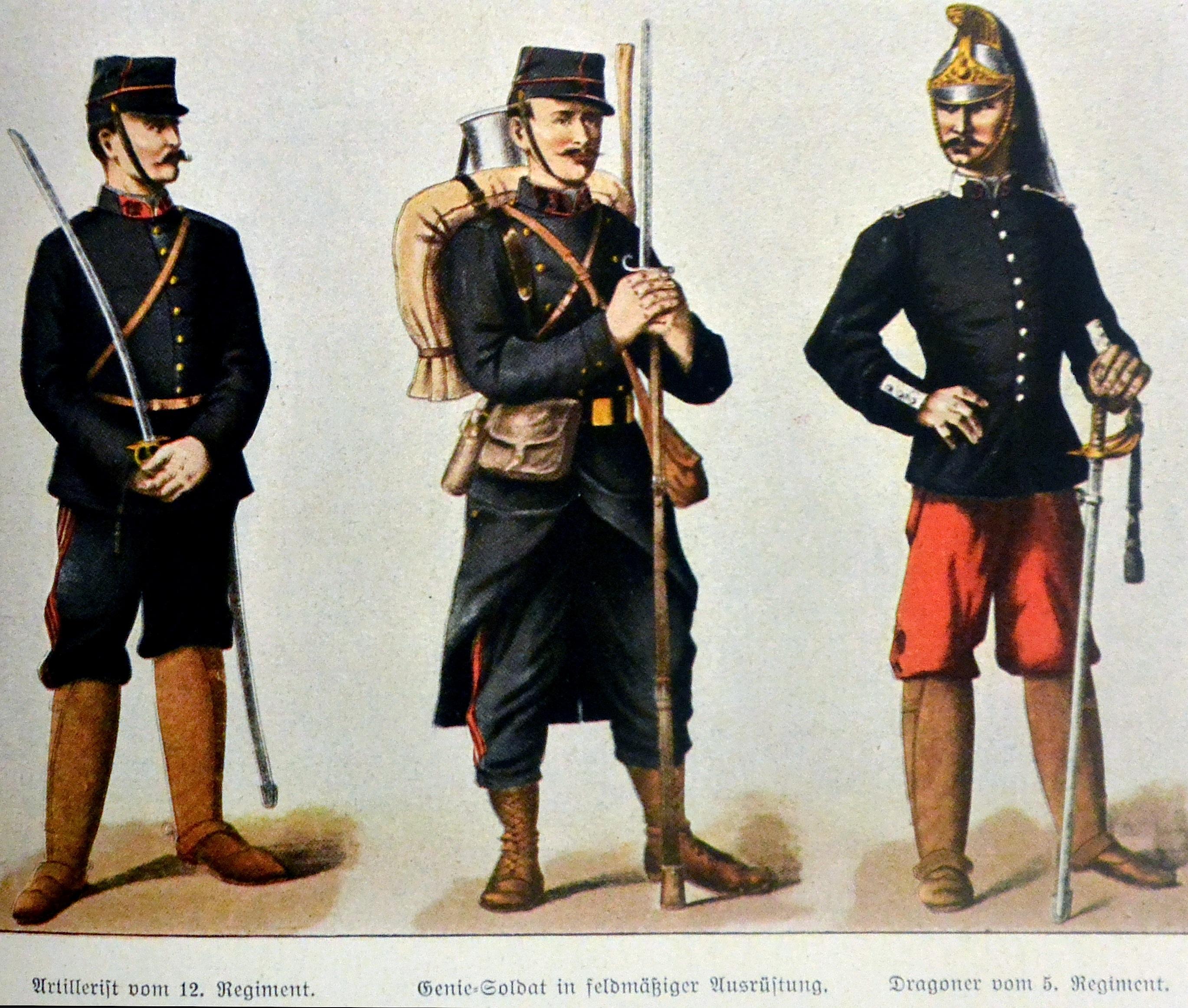 the French uniforms (artillery, engineering, dragons) - le uniformi francesi (artiglieria, genio, dragoni)
