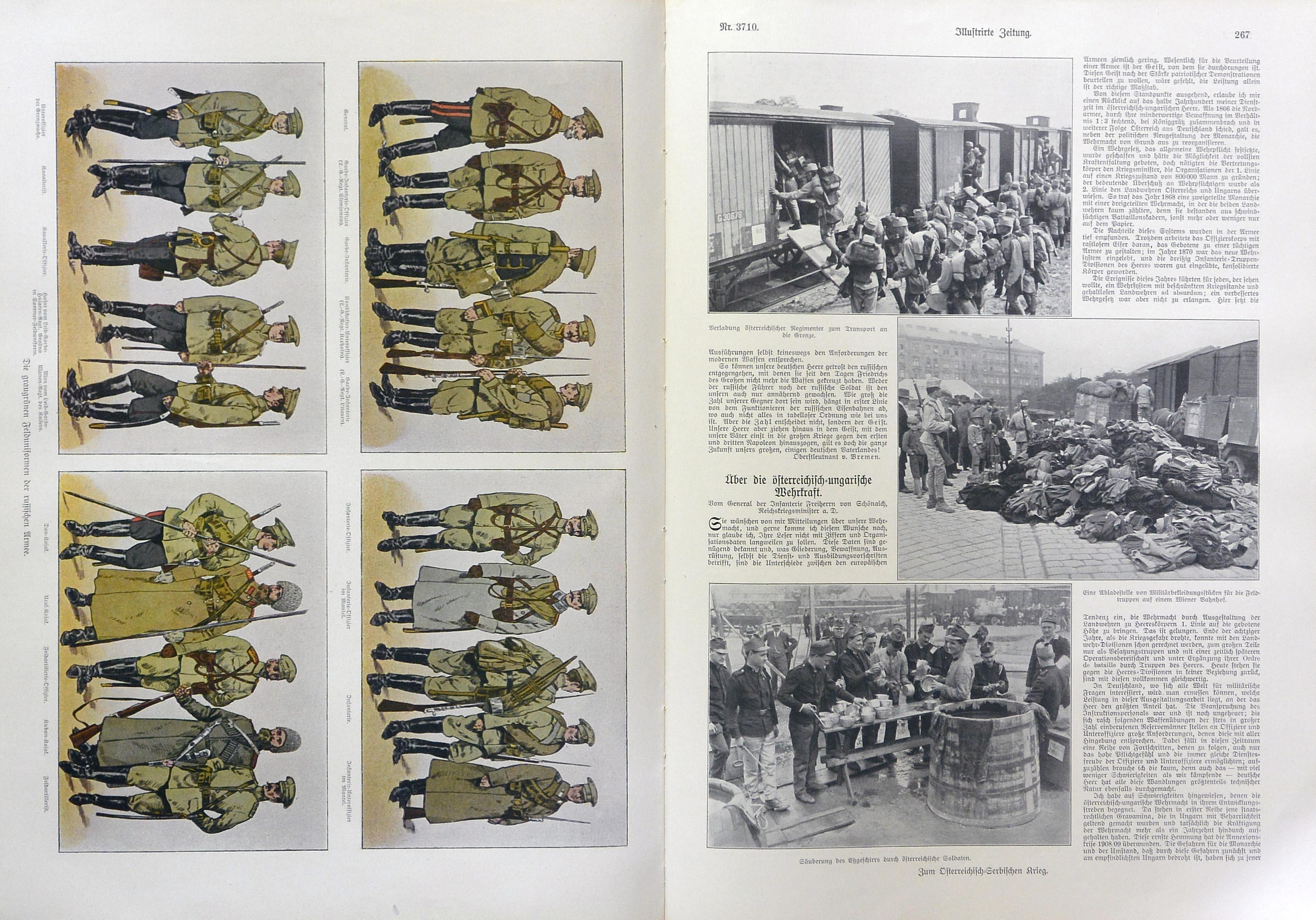 the Russian uniforms and the first photos of the regiments leaving for the front - le uniformi russe e le prime foto dei soldati che partono per il fronte