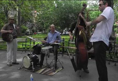 CONCERTS IN WASHINGTON SQUARE, NY NY (video)