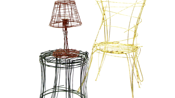 Drawing Series chair (brass)