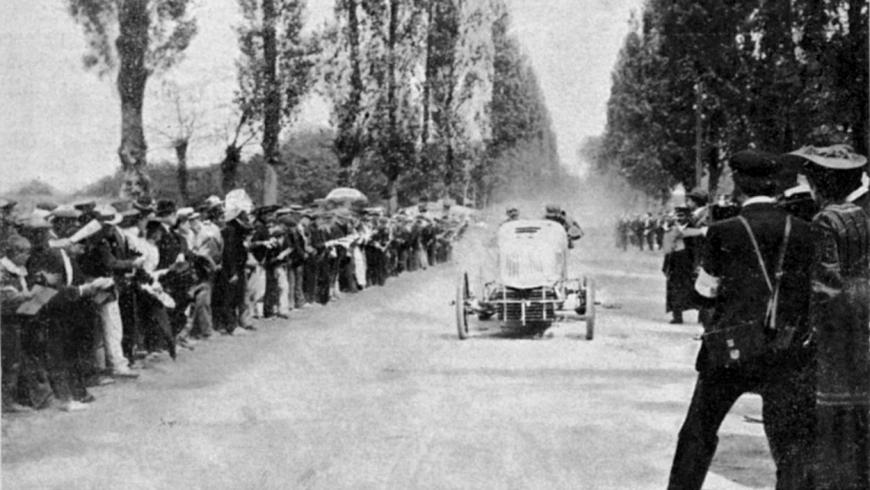 the rally Paris Madrid 1903 la corsa Parigi Madrid 1903