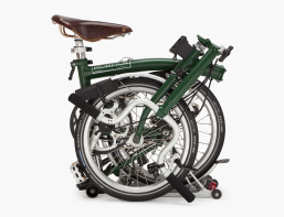 """RACING GREEN"" FOLDABLE BICYCLE WITH BROOKS SEAT, BROMPTON"