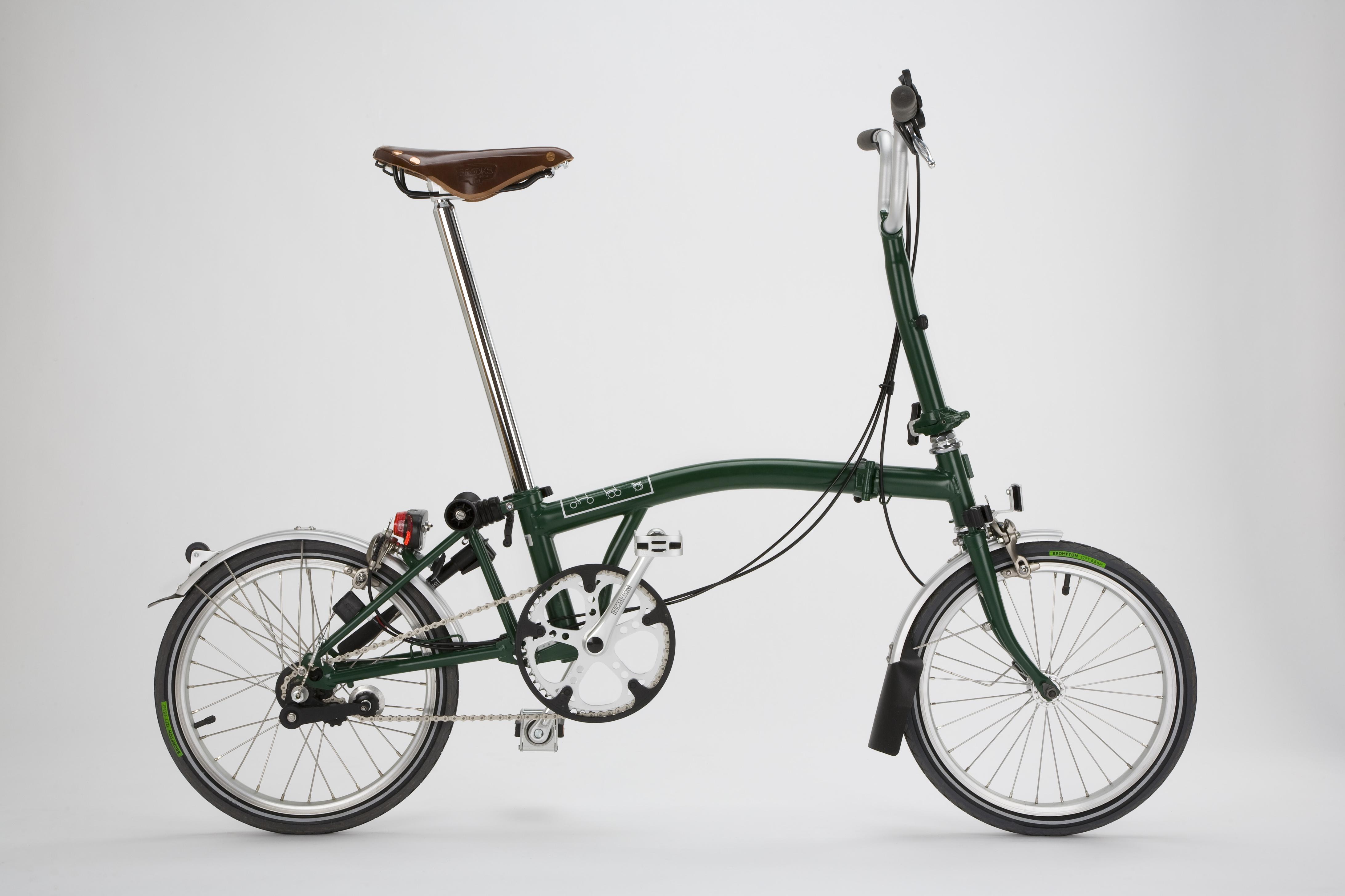 Racing green bicicletta ripiegabile brompton for Bici pieghevole milano