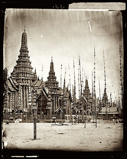1867, The cremation pyre of the King's son (Brir ?), Bangkok, Siam • La pira per la cremazione del figlio del re (Brir ?), Bangkok, Siam