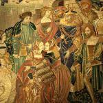 Leriano e Laureola: il perdono del re, Francia del Nord, 1515-1530 circa. Arazzo, lana e seta Parigi, Musée de Cluny