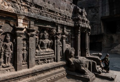 THE ELLORA CAVES IN MAHARASHTRA • INDIA