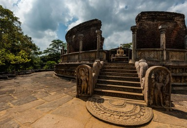 POLONNARUWA, SRI LANKA. THE BEAUTIFUL CAPITAL OF THE KING PARAKRAMABAHU