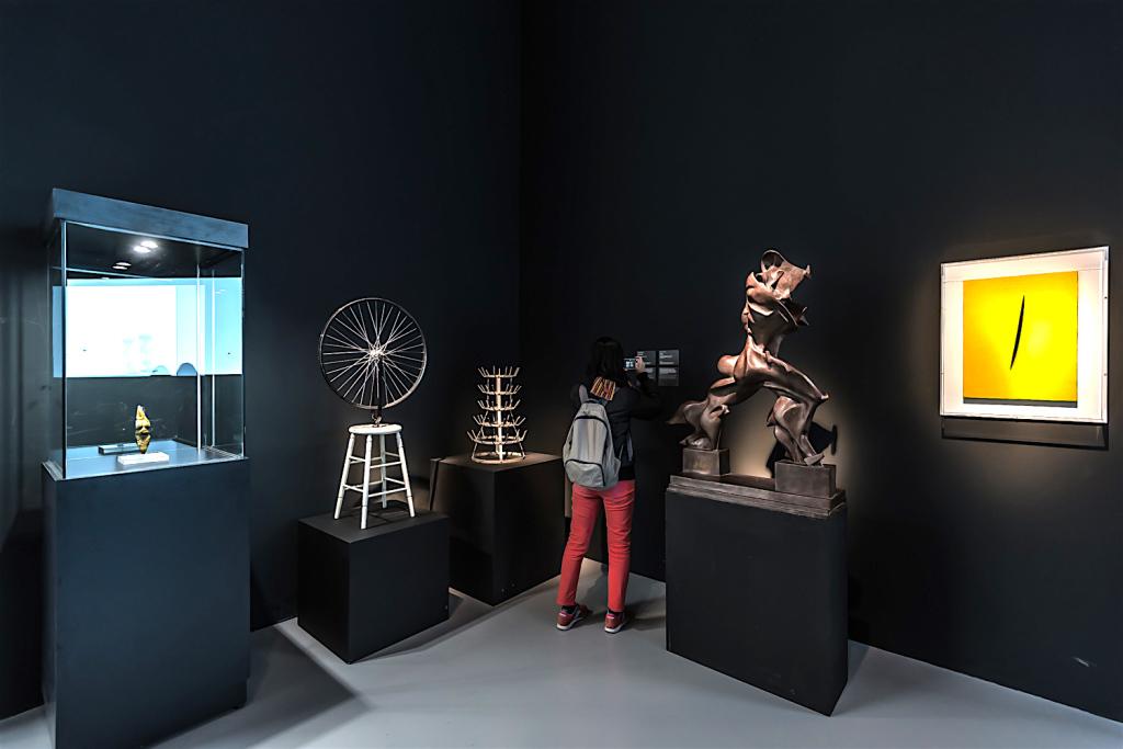 Marcel Duchamp, Umberto Boccioni, Lucio Fontana