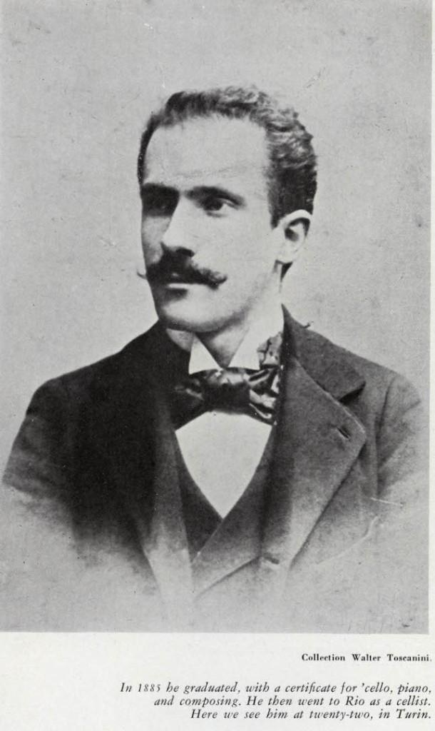 Nel 1885 si diplomò in violoncello, piano e composizione. Allora andò a Buenos Aires come violoncellista. Qui è ritratto a 22 anni a Torino.