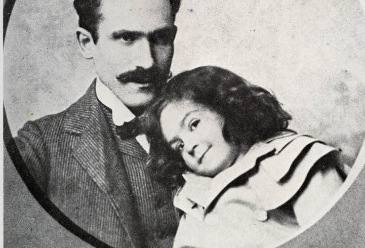 Nel 1904, col figlio Walter, a Buenos Aires.