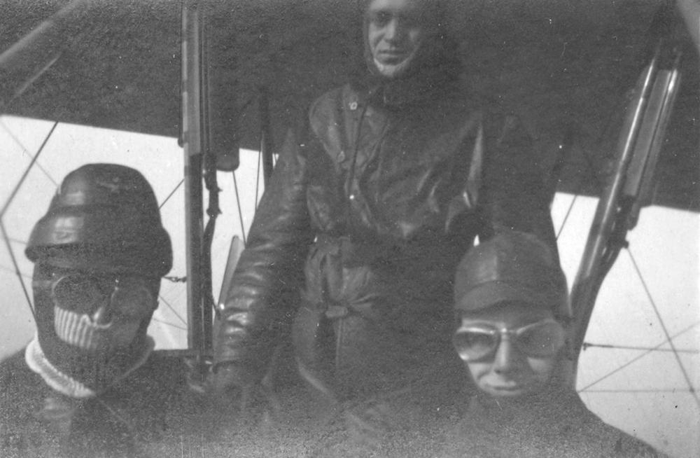 a bordo del bombardiere Caproni