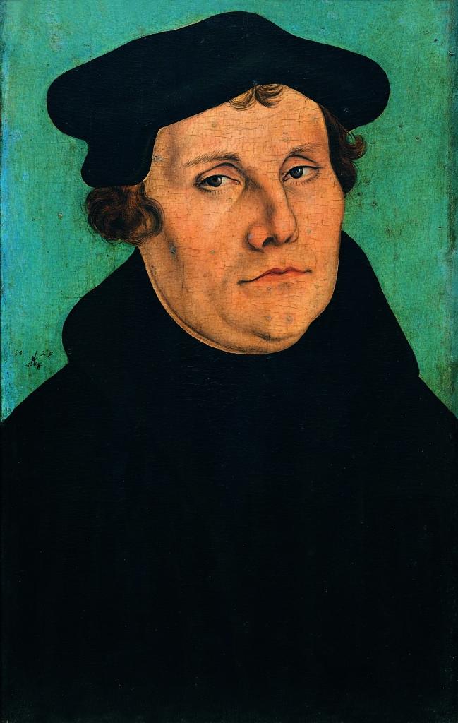 Lucas Cranach il Vecchio, bottega Ritratto di Martin Lutero 1529 Firenze, Gallerie degli Uffizi, Galleria delle Statue e delle Pitture
