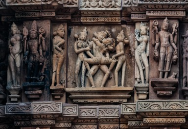 THE EROTIC SCULPTURES OF KAJURHAO • MADHJA PRADESH • INDIA