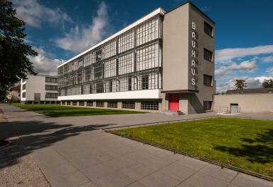THE OLD BAUHAUS MUSEUM IN DESSAU