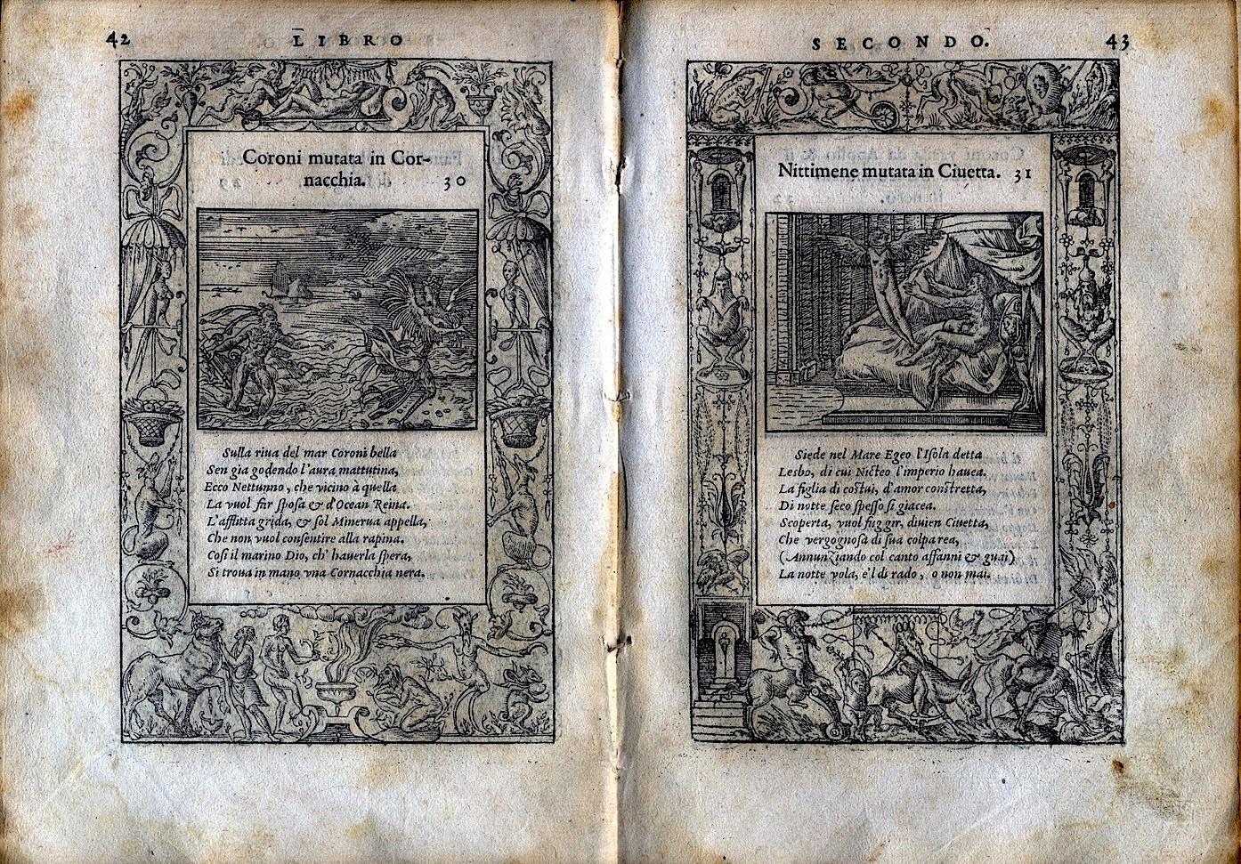 LA VITA ET METAMORFOSEO D'OVIDIO Giovanni di Tornes Lione 1519 6 copia