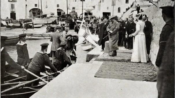 L'imperatore Guglielmo all'imbracadero dell'isola di Capri (1904) - The Emperor Wilhelm II at the jetting of the island of Capri (1904)