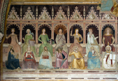 The cycle of the Frescoes of the Capellone degli Spagnoli in Florence