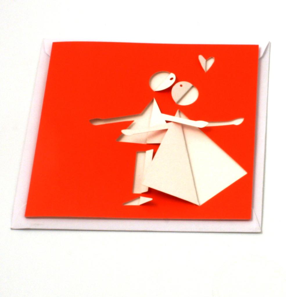 Fabriano Boutique-Card Innamorati rosso