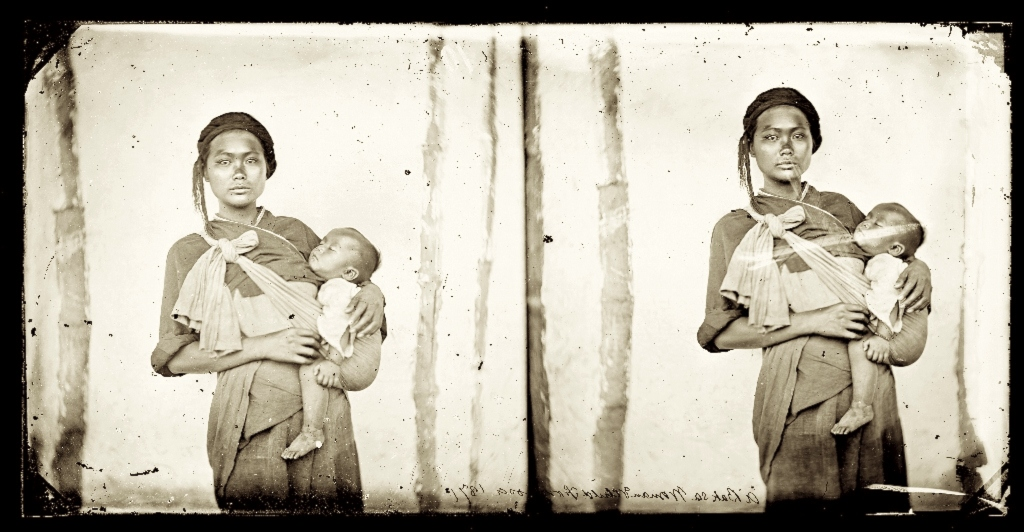 1871, Baksa woman with child, Formosa • Donna e bambino Baksa, Formosa