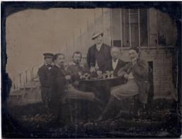 Jules Antoine: Van Gogh, Paul Gaugin, Emile Bernard Felix Jobbé-Duval, il fotofrafo è in piedi, 1887-
