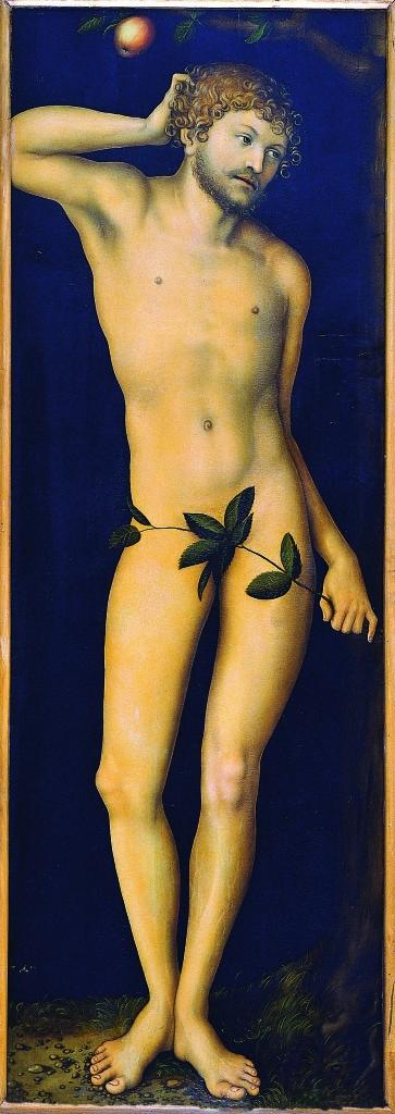 Lucas Cranach il Vecchio (Kronach 1472 - Weimar 1553) Adamo 1528 Olio su tavola Firenze, Gallerie degli Uffizi, Galleria delle Statue e delle Pitture