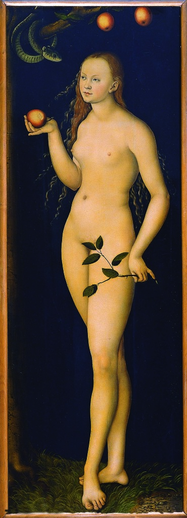 Lucas Cranach il Vecchio (Kronach 1472 - Weimar 1553) Eva 1528 Olio su tavola Firenze, Gallerie degli Uffizi, Galleria delle Statue e delle Pitture