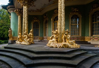THE CHINESE PAVILION OF SANSSOUCI PARK IN POTSDAM